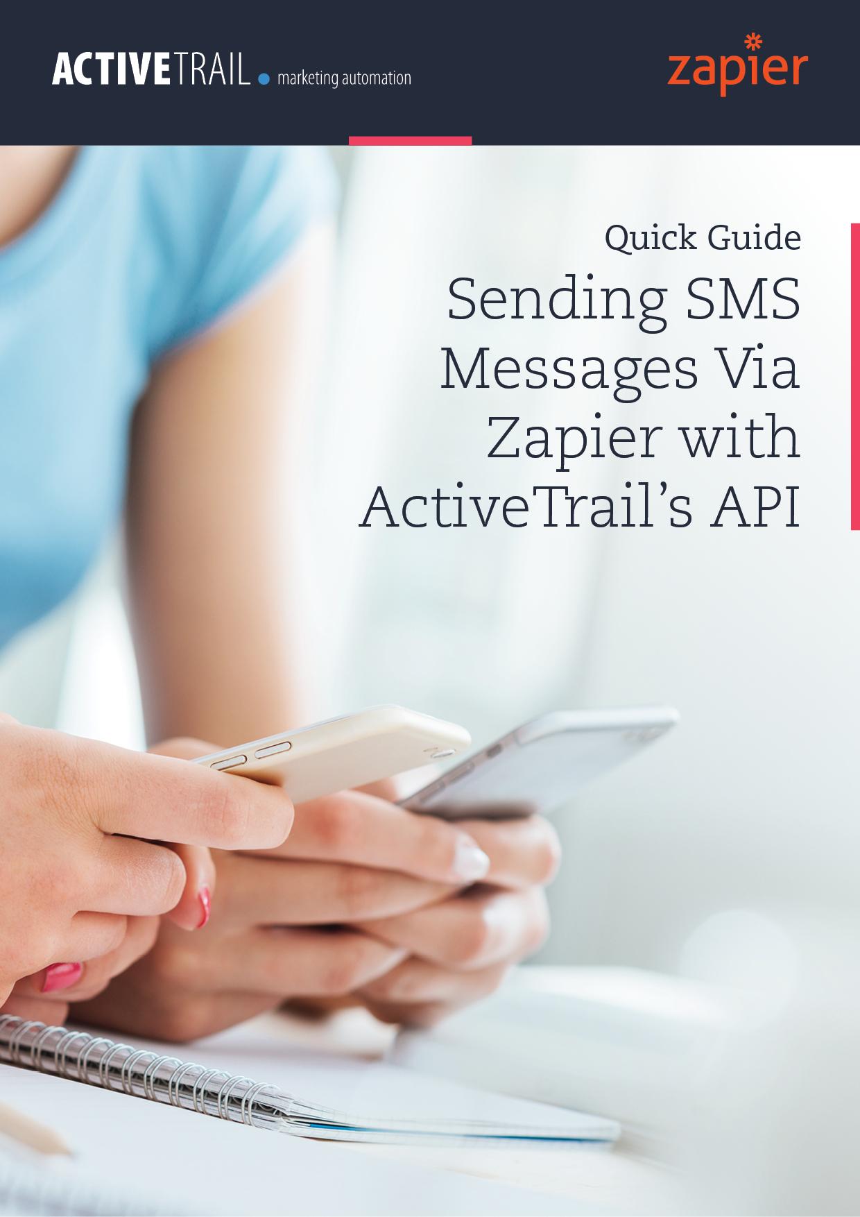 Guía rápida – Envío de Mensajes SMS a través de Zapier con la API de ActiveTrail